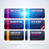 Options or banners on white — Stock Vector