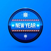 New Year and Christmas label — Stock Vector
