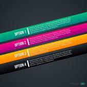Dört renkli çapraz seçenekleri — Stok Vektör