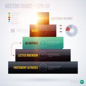 Pyramid chart template — Vector de stock