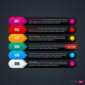 Colorful menu template — Stock Vector