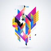 Fundo com formas geométricas — Vetor de Stock