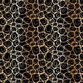 Abstract golden swirls seamless pattern — Stock Vector