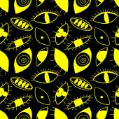 Abstract eyes seamless pattern. — Stock Vector