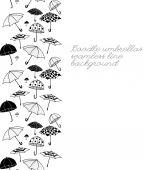 Doodle umbrellas seamless line — Stockvektor