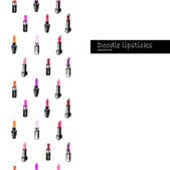 Sketchy lipsticks line — Stock Vector