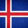 Iceland flag on paper background — Stock Photo #53221139