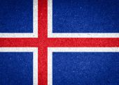 Iceland flag on paper background — Stock Photo