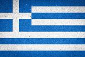 纸张背景上的希腊国旗 — 图库照片