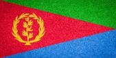 Eritrea flag on paper background — Stock Photo