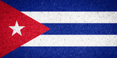 Cuba flag on paper background — Foto de Stock
