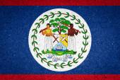 Belize flag on paper background — Stock Photo