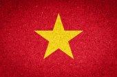 Vietnam flag on paper background — Stock Photo