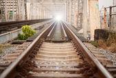železniční most. — Stock fotografie