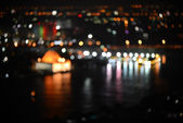 City night light blur bokeh, Defocused background. — Stock Photo