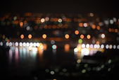 City night light blur bokeh , defocused background — Stock Photo