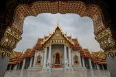 The Marble Temple, Wat Benchamabopitr Dusitvanaram Bangkok THAIL — Stock Photo
