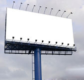 Blank billboard ready for new advertisement. — Stock Photo