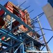 Cranes and beams on construction of industrial factory  — Stock Photo #57348495