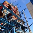 Cranes and beams on construction of industrial factory  — Stock Photo #57348505