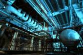 Urządzeń, kabli i rurociągów jako znaleziono wewnątrz powe przemysłowe — Zdjęcie stockowe