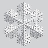 Decorative abstract snowflake. — Vetor de Stock