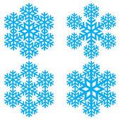 Decoratieve abstracte sneeuwvlok. — Stockvector