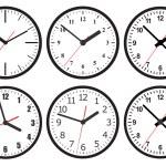Wall mounted digital clock. — Stock Vector #58193877