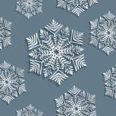 Decorative abstract snowflake. Seamless — Stock Vector