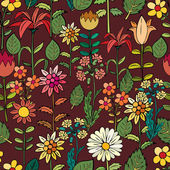 Various summer flowers — Stock Vector