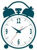 Classic alarm clock — Stock Vector