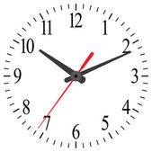 黒と白の時計 — ストックベクタ