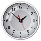 Wandmontierte digitaluhr — Stockvektor
