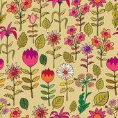 Various summer flowers. — Stock Vector
