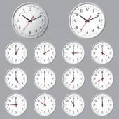 壁マウント デジタル時計. — ストックベクタ