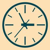 Parede relógio digital. — Vetor de Stock