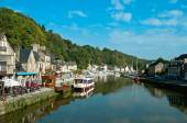 Dinan at the river Rance — Stock Photo