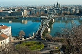 Chain Bridge of Budapest — Stock Photo