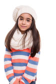 Girl posing over white — Stockfoto