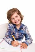 Student writting — Stock Photo