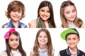 Collage of kids — Stock Photo