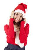 Pretty christmas girl — Стоковое фото