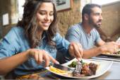Couple having lunch — Stock Photo