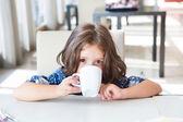 Child having breakfast — Stock Photo