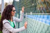 Sporty woman at park — Foto Stock