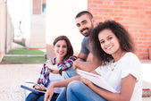 Group of students in Campus — Stock Photo