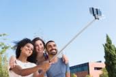 Friends taking a selfie — Stock Photo