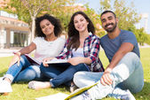 Students at School Campus — Stock Photo