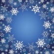 Winter celebratory background with snowflakes — Stock Vector #57033605
