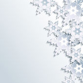 Stylish winter background, abstract 3d snowflake — Vecteur
